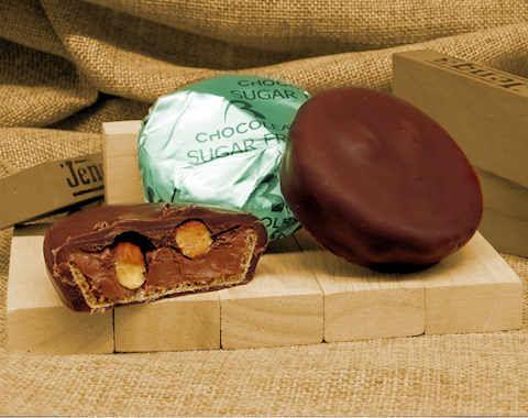 Leaflet dark sugar free chocolate