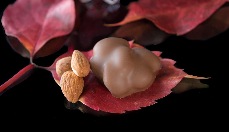 Almonds in milk couverture