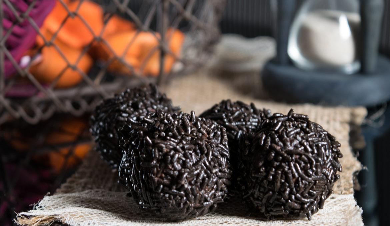 Truffle in dark couverture