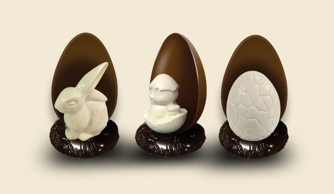Three-dimensional easter figures EGG 450 gr.