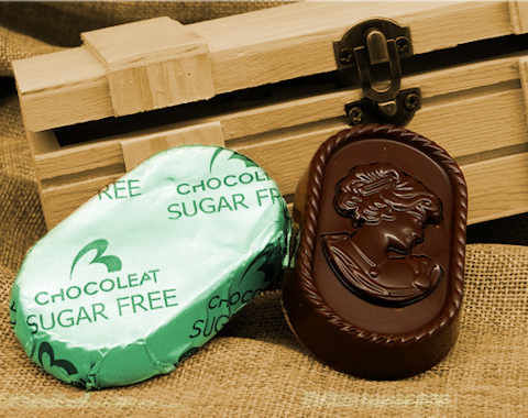 Wrapped Giantuja sugar free dark chocolate