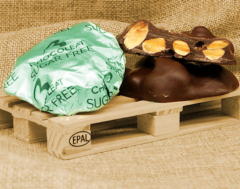 Leaflet milk sugar free chocolate