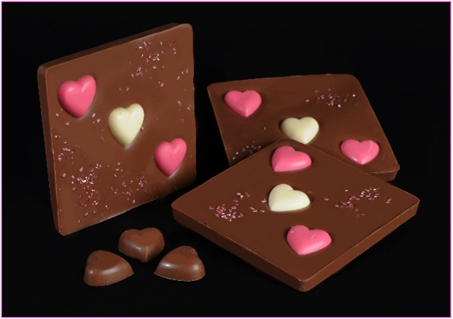 Chocoleat Milk chocolate with hearts 90 gr